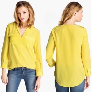 [Joie] Marlow V neck pocket Silk Top